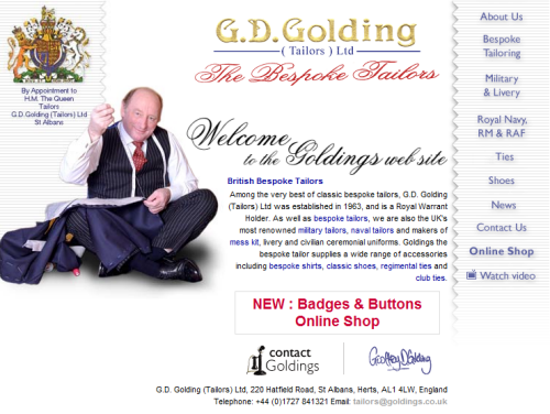 G.D. Golding (Tailors) Limited